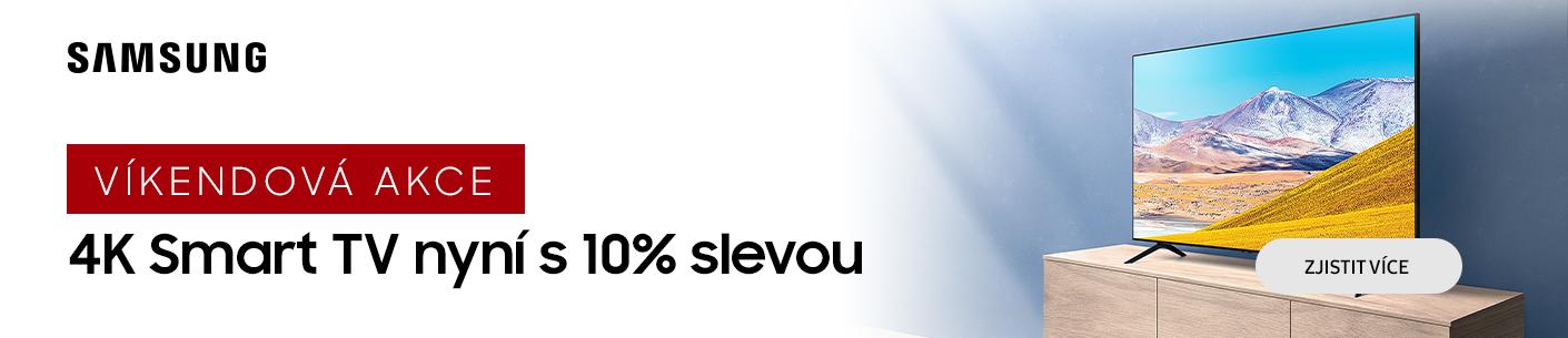 10% sleva Samsung 4K smart TV